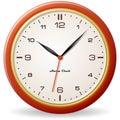 Retro style clock Royalty Free Stock Photo