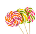 Retro style colorful round shape lollipop Royalty Free Stock Photography