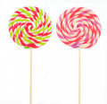 Retro style colorful round shape lollipop isolated Royalty Free Stock Photos