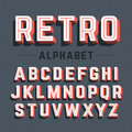 Retro style 3d alphabet Royalty Free Stock Photo