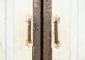 Retro style door holders Royalty Free Stock Photo