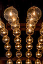 Retro style of Edison light bulbs decoration on ceiling in depar Royalty Free Stock Photo