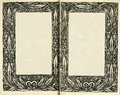 Retro style. frame floral ornament on the pages of old books. Royalty Free Stock Photo