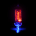 retro-style gas-discharge display.     Digit 1  and point Royalty Free Stock Photo