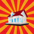 Retro style house graphic Royalty Free Stock Image