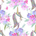 Retro style Illustration with flowers and animal