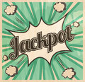 Retro style Jackpot signboard Background. Boom comic book explosion