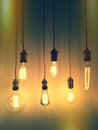 Retro style light bulbs Royalty Free Stock Photo
