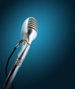 Retro style microphone. Royalty Free Stock Photo