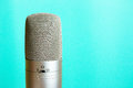 Retro style microphone Royalty Free Stock Photo