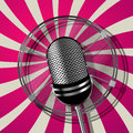 Retro style microphone illustration graphic art Stock Images