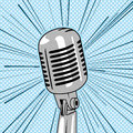 Retro style microphone pop art vector Royalty Free Stock Photo