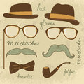 Retro style mustache party Stock Photography