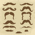 Retro style mustaches collection Stock Photos