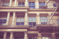 Retro style New York City Apartment Building Royalty Free Stock Photo