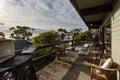Retro style patio at an Australian beach shack Royalty Free Stock Photo