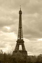 Retro style photo of eiffel tower nickname la dame de fer the iron lady the has become the most prominent symbol both Stock Photos