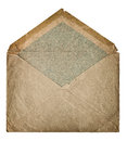 Retro style post mail envelope. grangy textured paper Royalty Free Stock Photo
