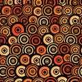 Retro style seamless circle pattern for easy making just drag all group into swatches bar and use it for filling Royalty Free Stock Images