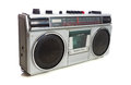 Retro style silver boom box a Royalty Free Stock Photography