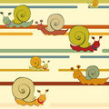 Retro style snail background Stock Photo