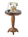 Retro style telephone isolated in white Royalty Free Stock Photo
