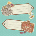 Retro-style Travel discount stickers Royalty Free Stock Photography