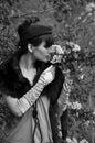Retro style woman Stock Photography