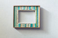 Retro style wooden picture frame Royalty Free Stock Photo