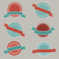 Retro styled badges Royalty Free Stock Photography