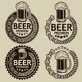 Retro Styled Beer Seals / Labels Royalty Free Stock Image