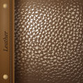 Retro styled brown leather background Royalty Free Stock Images