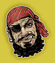 Retro styled illustration classic pirate Royalty Free Stock Image