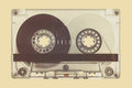 Retro styled image of a compact cassette Royalty Free Stock Photo