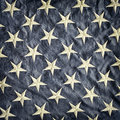 Retro styled image of a detail of the American flag Royalty Free Stock Photo