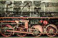 Retro styled image of an old steam locomotive Royalty Free Stock Photo