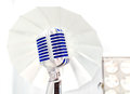 Retro styled microphone selective focus Stock Images