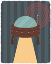 Retro styled  poster. Ufo. Vector illustration. Royalty Free Stock Photo