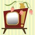 Retro-styled tv Stock Photo