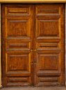 Retro-styled wooden door Stock Photography