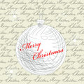 Retro stylized christmas card Stock Image