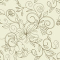 Retro stylized seamless pattern Stock Images