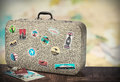 Retro Suitcase With Stikkers O...
