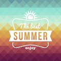 Retro summertime holidays poster vintage fashion the best summer enjoy sun rope frame vector file layered for easy editing Royalty Free Stock Photos