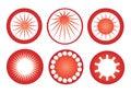 Retro sun icons vector Royalty Free Stock Photo