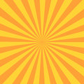 Retro sunburst ray in vintage style. Abstract comic book background Royalty Free Stock Photo