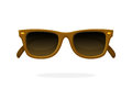 Retro sunglasses with brown horn-rimmed frames