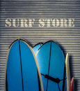 Retro Surf Store With Boards