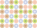 Retro sweet flower dots Royalty Free Stock Images
