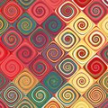 Retro swirls abstract pattern Royalty Free Stock Photo
